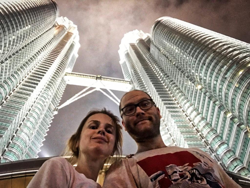 Paweł Zawadzki i Ewelina w Kuala Lumpur